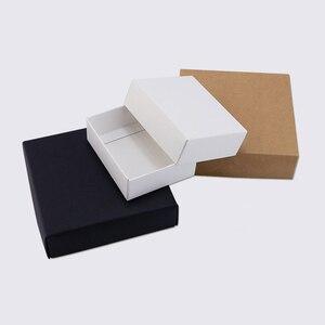 Картонная подарочная коробка на заказ маленькая картонная коробка Крафтовая упаковка коробка для конфет с крышкой черно-белые бумажные ко...