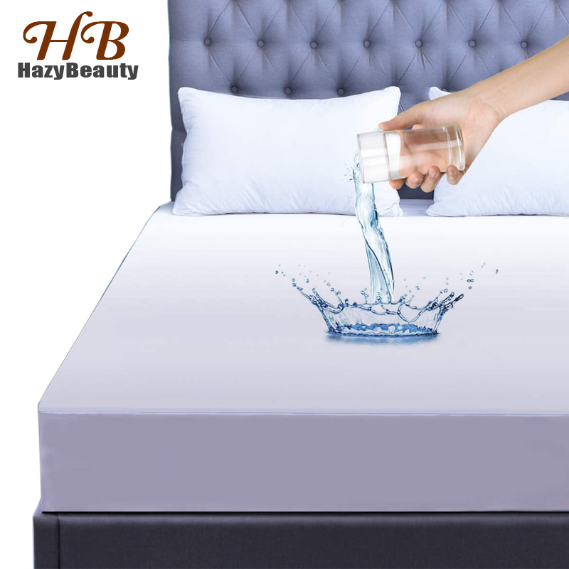 160x200cm Hypoallergenic Waterproof Mattress Cover King Size Luxury Terry Cotton Mattress Protector Sheet for Bed Drop Shipping