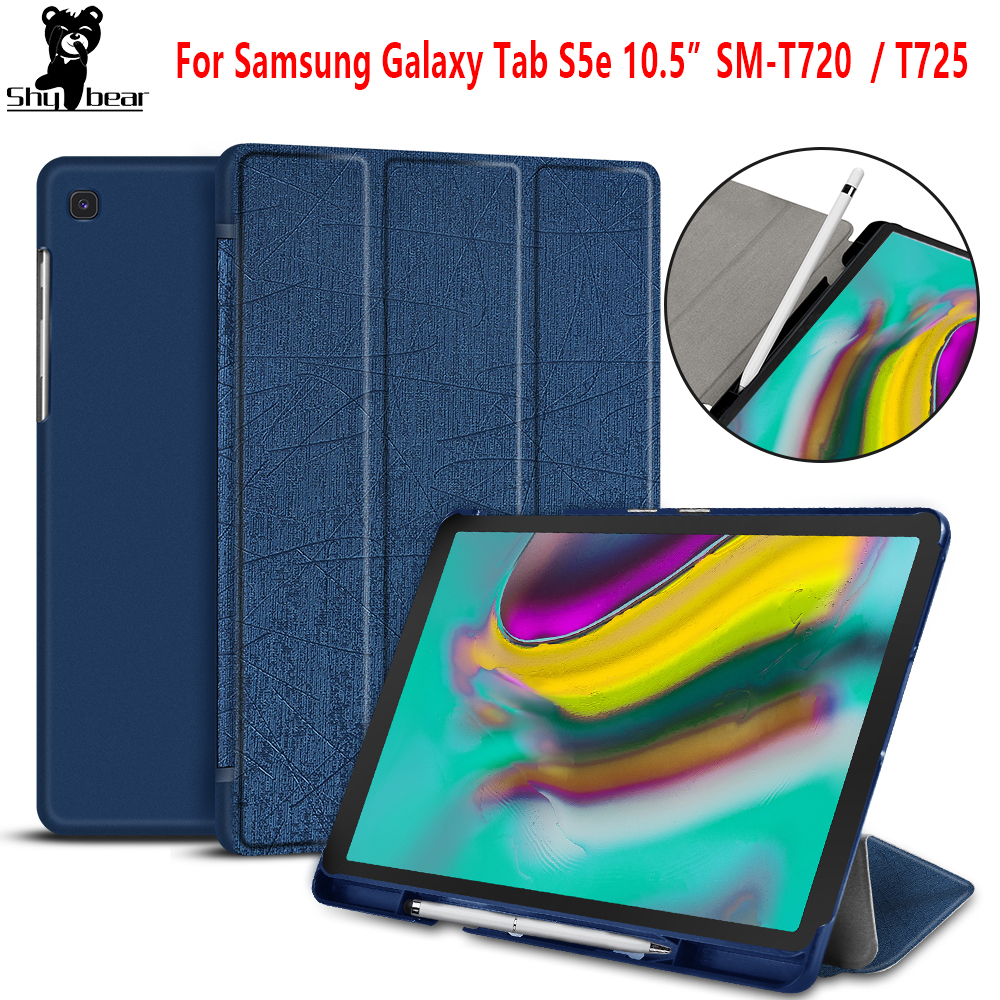 <font><b>Case</b></font> for Samsung Galaxy Tab S5E 2019 SM-T725 SM-<font><b>T720</b></font> Smart Cover <font><b>case</b></font> for Samsuang Tab 10.5 2019 SMT720 funda capa with Pen slot image