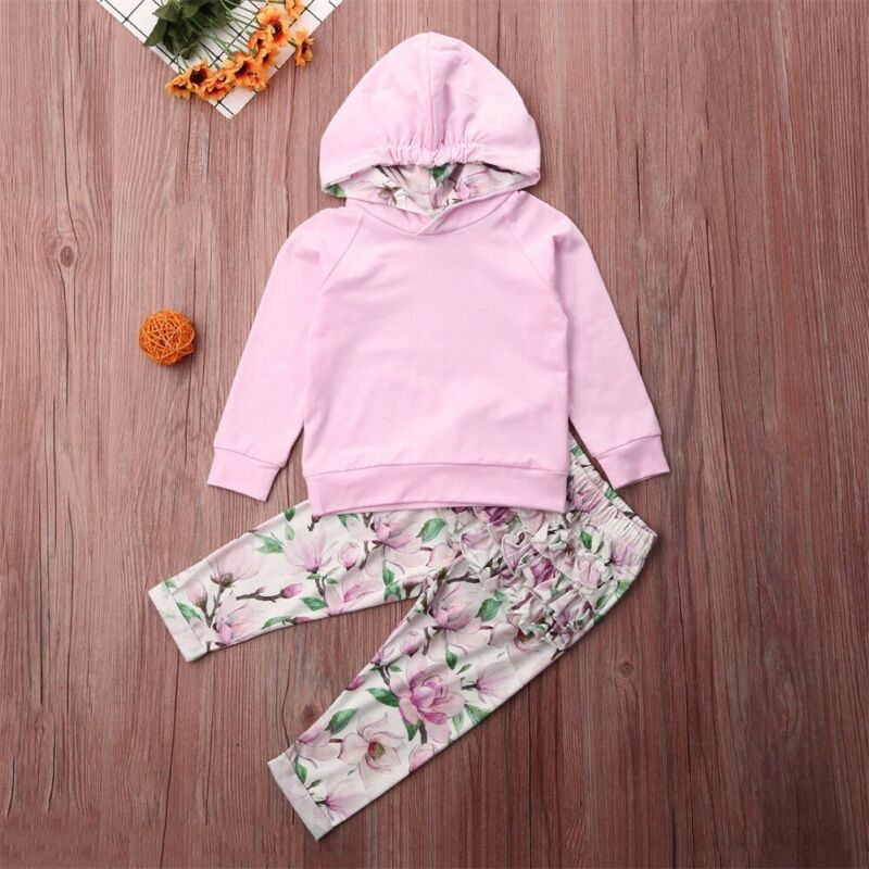 Pants Outfits Unisex Clothes 0-24M Baby Fashion Warm Long Sleeve Hooded Tops