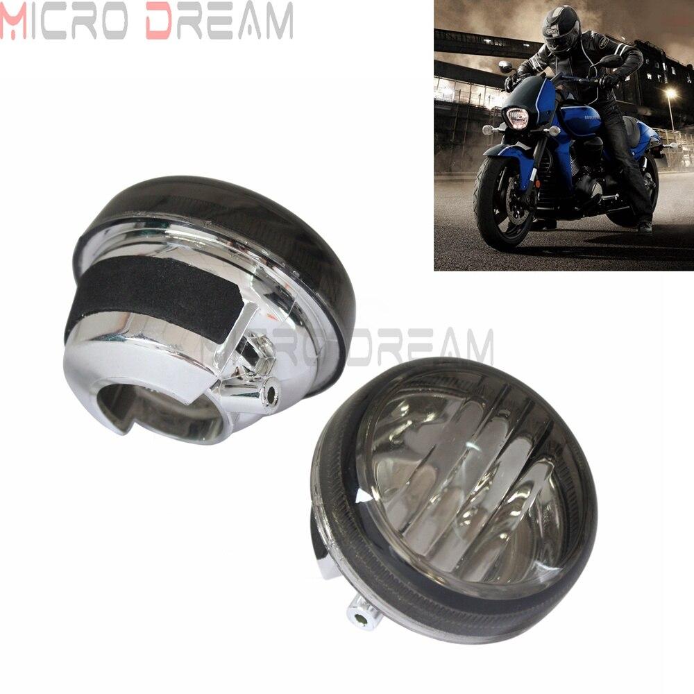 1 Pair Motorcycle Smoked Turn Signal Lenses For Suzuki Boulevard C109R M109R M50 C50 C90 VL800 Volusia 1500 Intruder 2005-2012