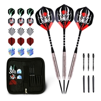 WIN.MAX Professional Darts Set  Tungsten Steel Tip Dart 22/24 grams with 2D Flights