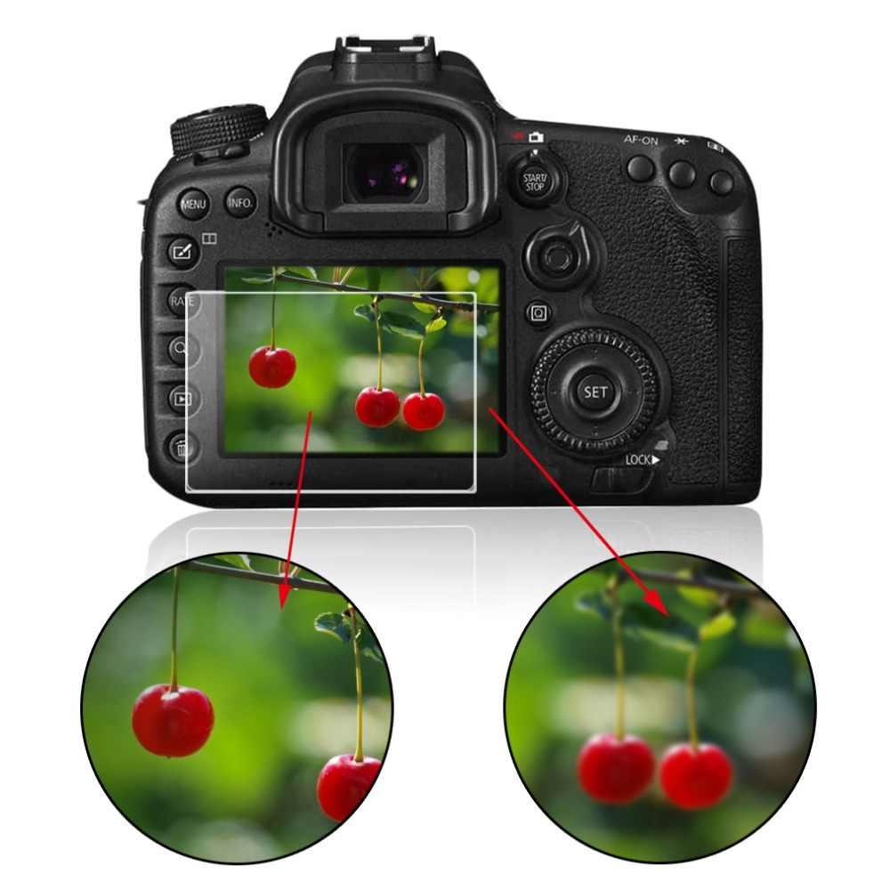 كاميرا البصرية الزجاج المقسى شاشة LCD لوحة واقي الفيلم 0.4 مللي متر HD واقية الحرس غطاء مقاوم للماء لكانون 550D 60D 600D