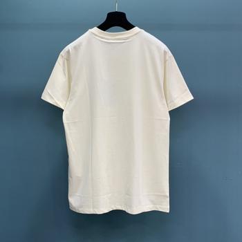 2021ss Fashion luksusowy Design kobiety lato T shirt najwyższej jakości z krótkim rękawem Cartoon bawełniane z nadrukiem topy Casual Unisex Tees tanie i dobre opinie REGULAR Nylonowa bawełna CN (pochodzenie) COTTON NONE tops Z KRÓTKIM RĘKAWEM SHORT Dobrze pasuje do rozmiaru wybierz swój normalny rozmiar