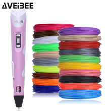 Original Model 3d Pen 3 d Drawing Printer Pens Set With 100/200 Meter PLA Plastic Filament  DIY Toys For Children Birthday Gifts