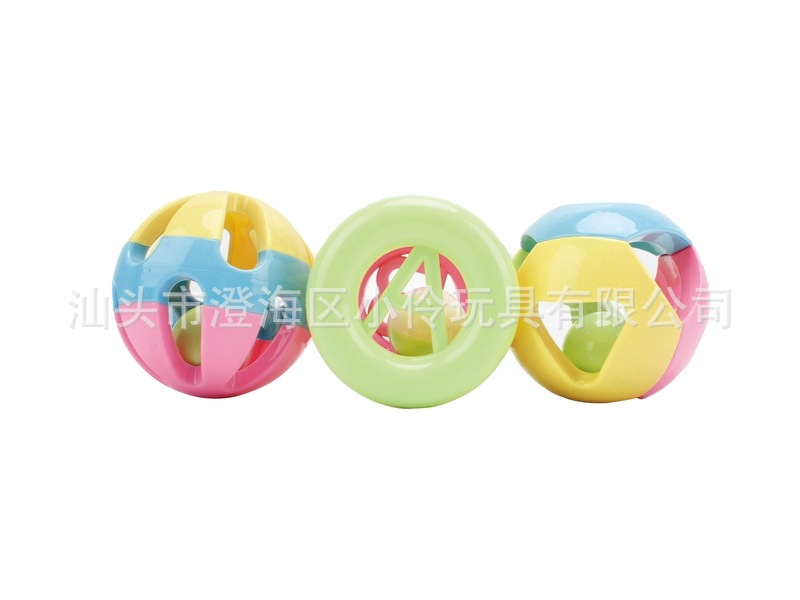 Baby Toys Jingle Ball Fitness Ball Three-piece Set-Baby Educational Early Childhood Rattle Rattle Toy 0-3-Year-Old