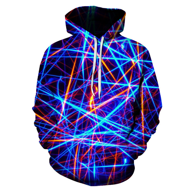 New Geometric Hoodies 3D Men Streetwear 2018 in 2020