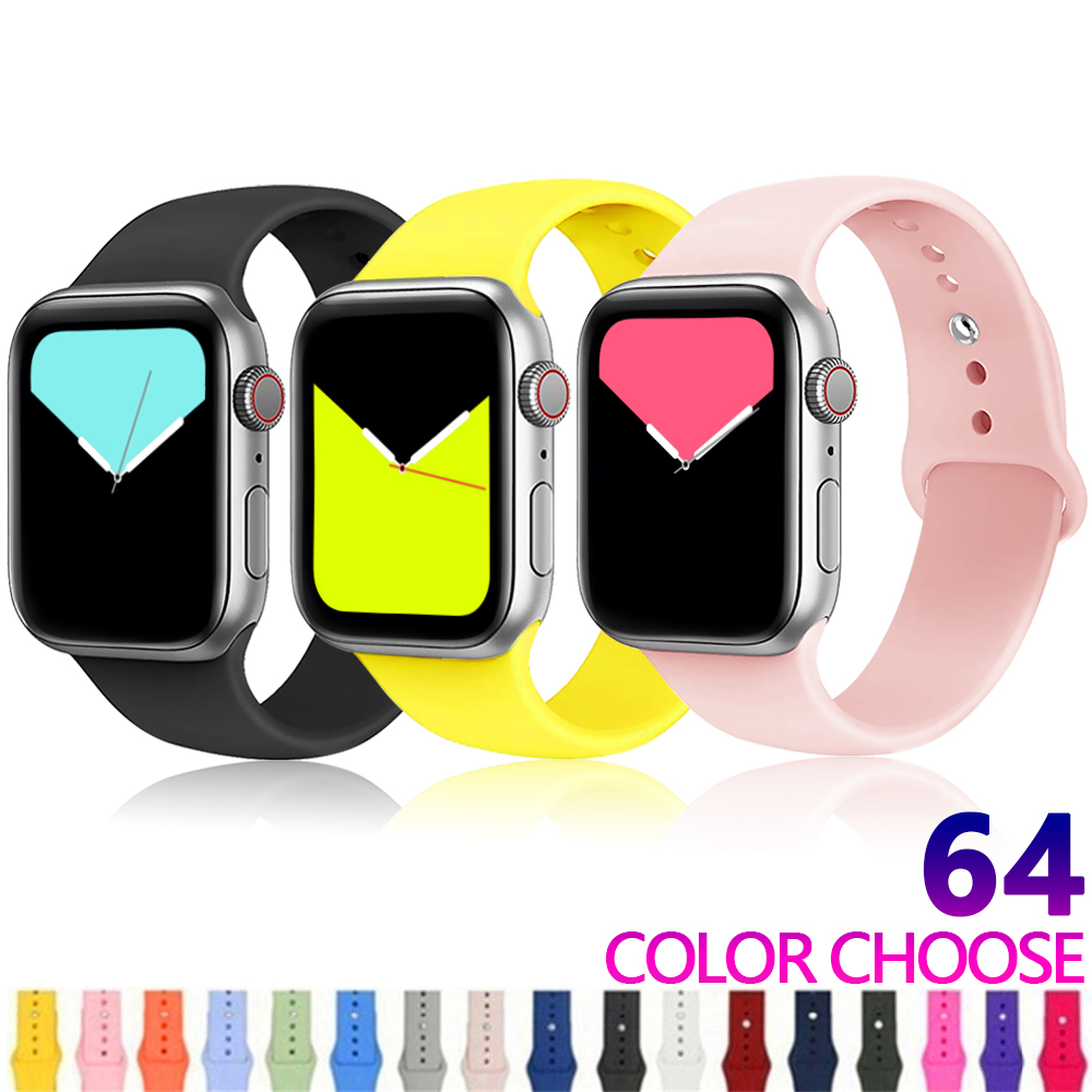 Strap For Apple Watch Band Apple Watch 4 5 3 Iwatch Band 42mm 44mm 38mm 40mm Correa Bracelet Silicone Watchband Belt Accessories
