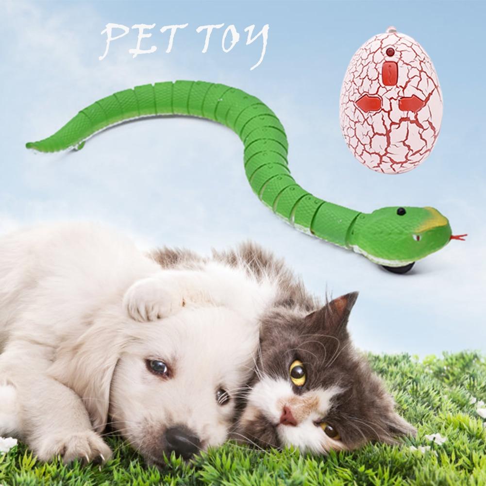 Шуточная розыгрыш, игрушки для домашних животных, забавная Змея с инфракрасным пультом дистанционного управления, яйцо, погремушка, трюк, с...