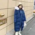 Bule Plus Size winterjas vrouwen abrigos mujer invierno 2019 пуховик женский Jas Winter uitloper DZA031