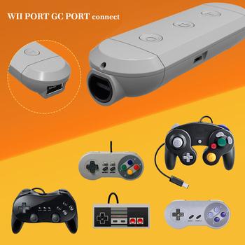 Przenośny głośnik bezprzewodowy Bluetooth GC Adapter do Gamecube Wii NES SNES klasyczny kontroler do nintendo przełącznik nintendo wygodne trwałe tanie i dobre opinie powstro Brak Wireless Bluetooth Adapter