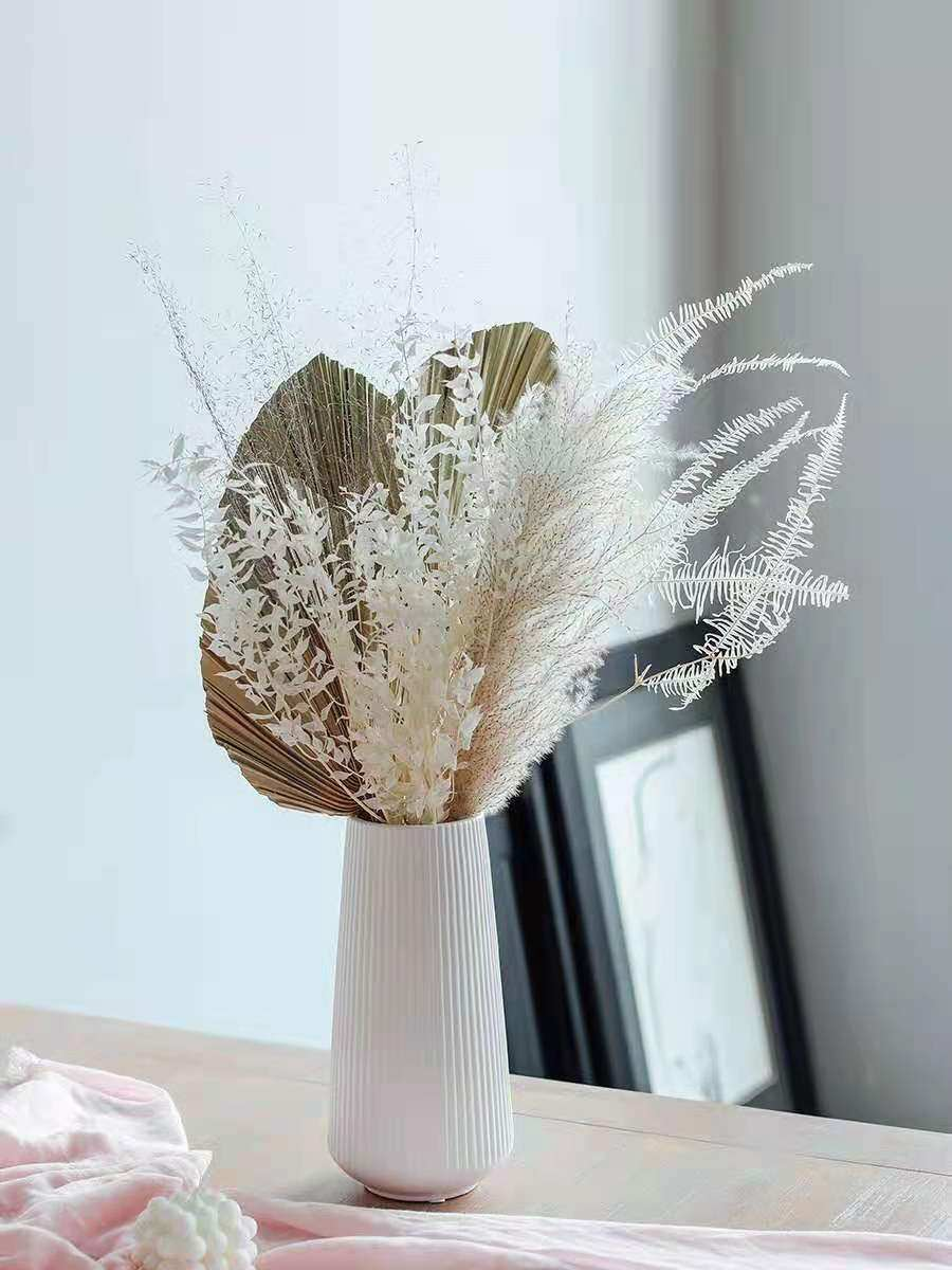 Preserved Decoration Dried Flower Pampas Reed Cattail Fan Combination  Bouquet For Home Wedding Hotel Accessories Photo Props - Mega Offer #05EF    Klaraprivata