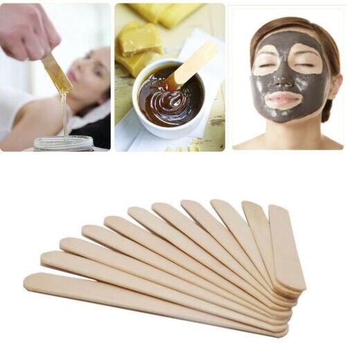 100PCS Woman Wooden Body Hair Removal Sticks Wax Waxing Disposable Sticks Beauty Toiletry Kits Wood Tongue Depressor Spatula New