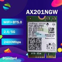Двухдиапазонный Беспроводной AX200NGW 2,4 Гбит/с 802.11ax Беспроводной Intel Wi-Fi 6 AX200 / AX201NGW / 8265NGW /3168AC M.2 NGFF Wi-Fi Wlan Card беспроводная сетевая карта
