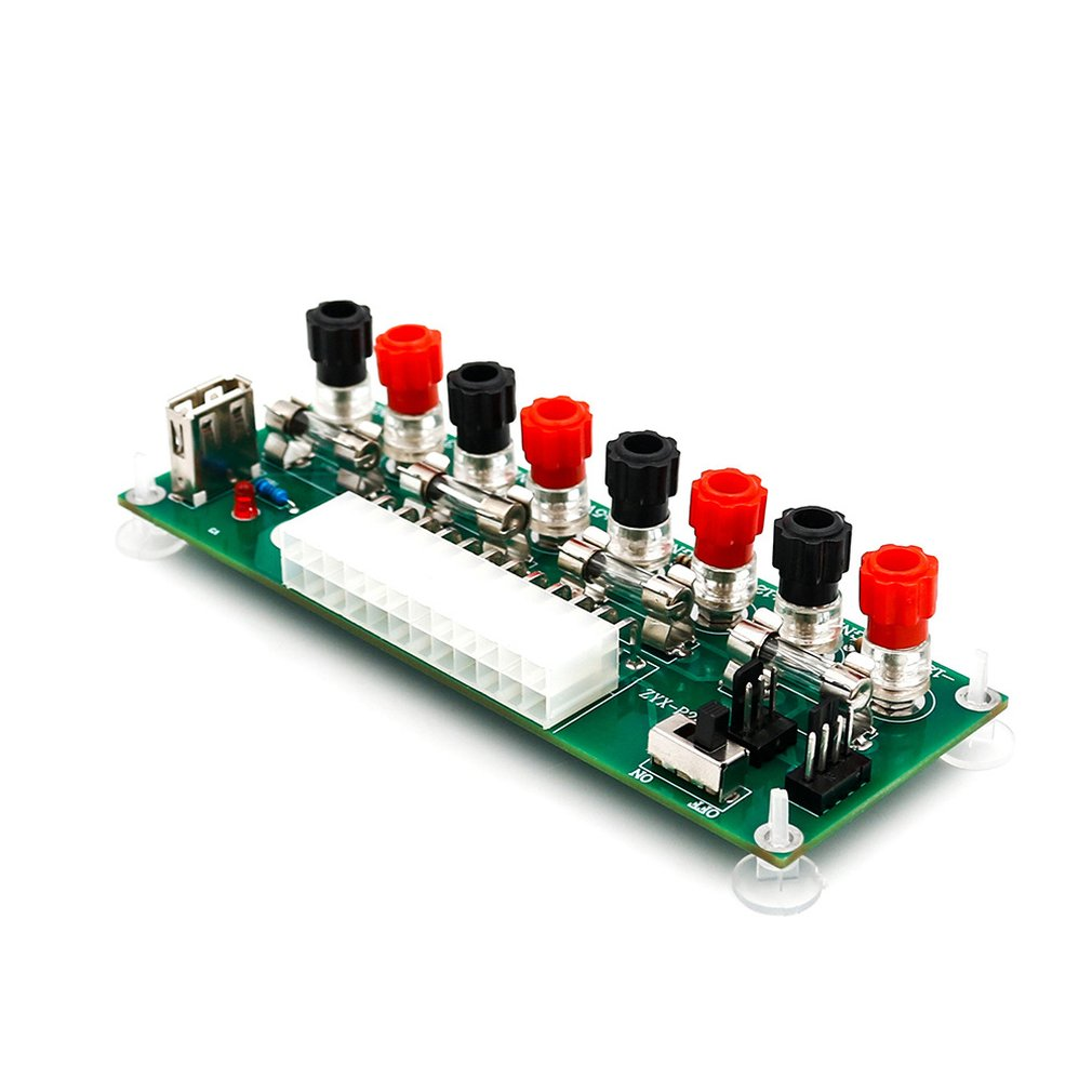 Electrical Circuit 24 Bench Atx Pins Computer Power Supply Atx Pin Breakout Board Module Dc Plug Connector With Usb 5 V Port