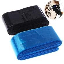 100 sztuk jednorazowe czarny/niebieski tatuaż przewód zaciskowy rękawy obejmuje torby dostaw dla maszynka do tatuażu tatuaż akcesoria