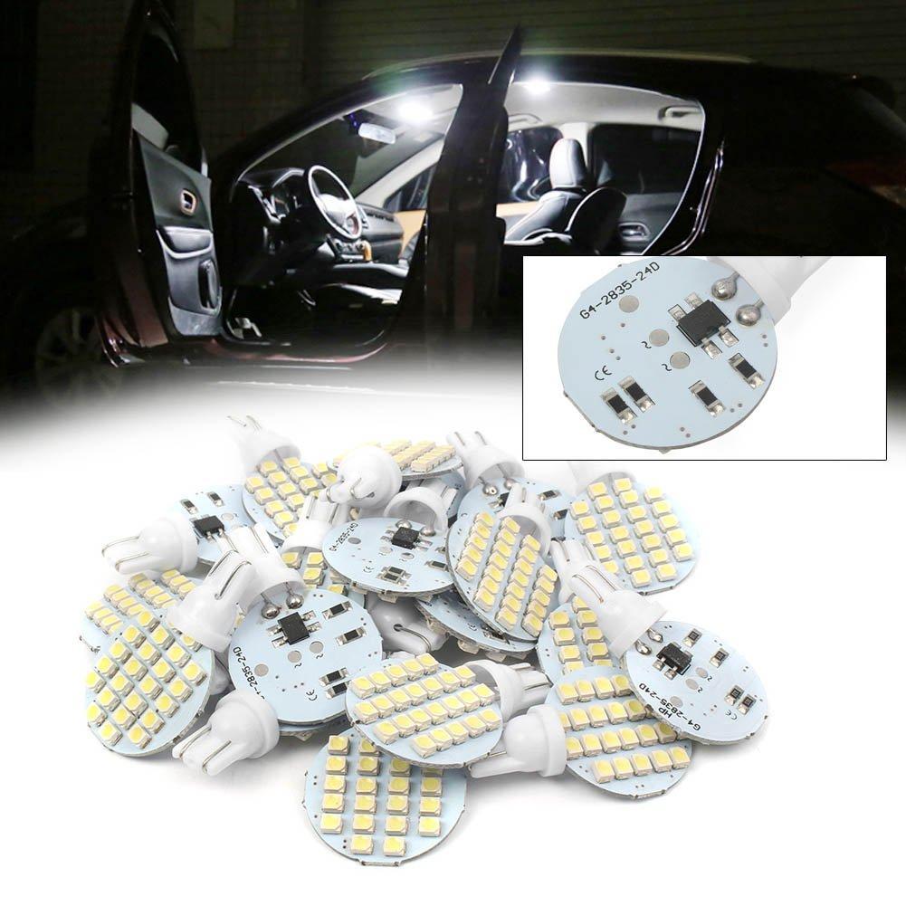 20 штук T10 W5W 921 194 2825 168 24SMD клиновидные боковые АВ ландшафтный дизайн светодиодный светильник лампы