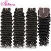 Shireen Hair Loose Deep Wave Bundles With Closure Remy Human Hair Weave Bundles With Closure Malaysian 3 Bundles With Closure