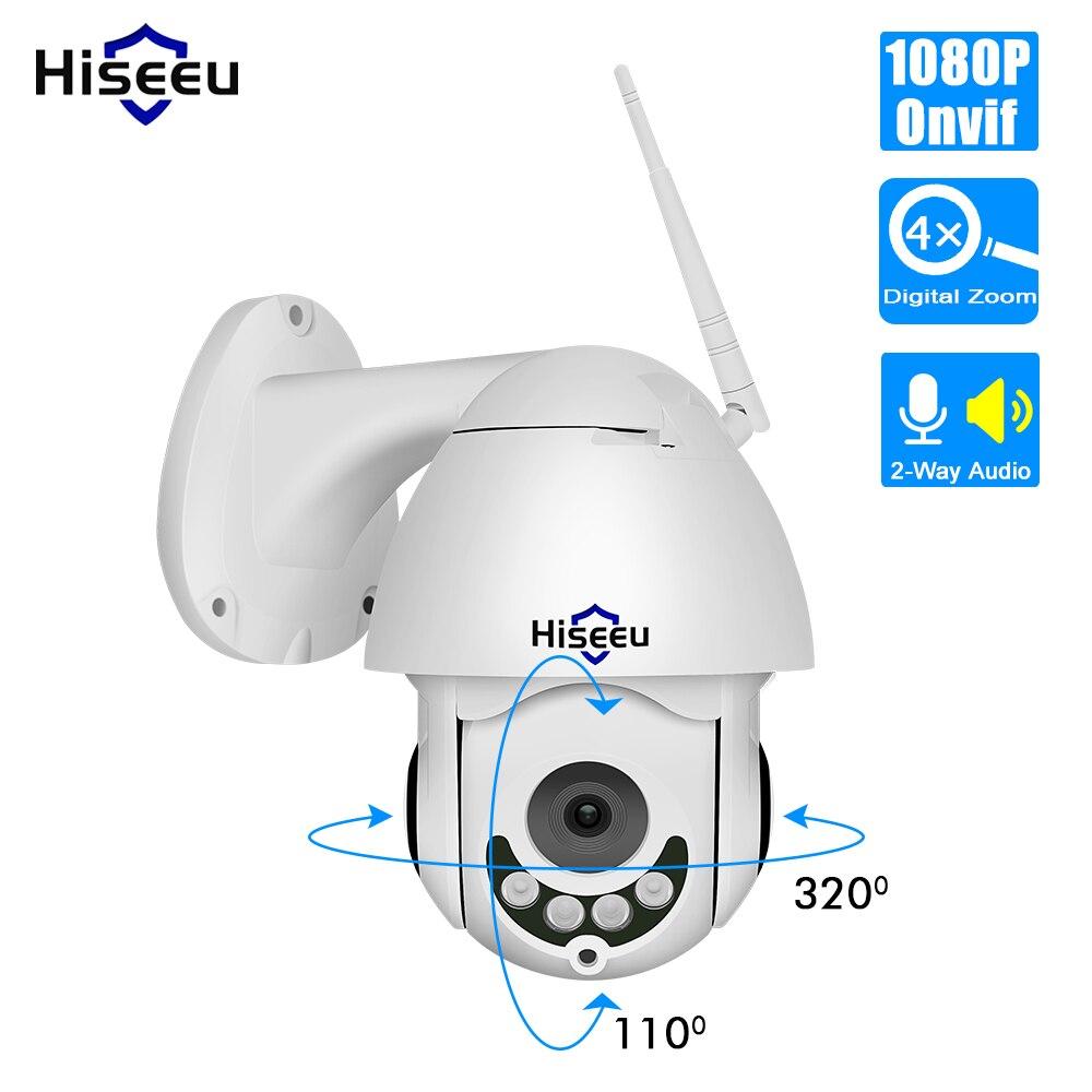 Hiseeu 1080P Sans Fil PTZ Vitesse Dôme Caméra IP WiFi Extérieur Deux Voies Audio Vidéo De Sécurité CCTV Caméra de Surveillance Réseau P2P
