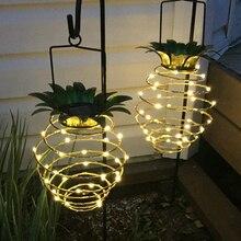 Waterproof Solar Hanging Light Pineapple Solar Garden Lights Outdoor Solar Lamp Home Decor Wall Lamp Sunlight Solar Light D30