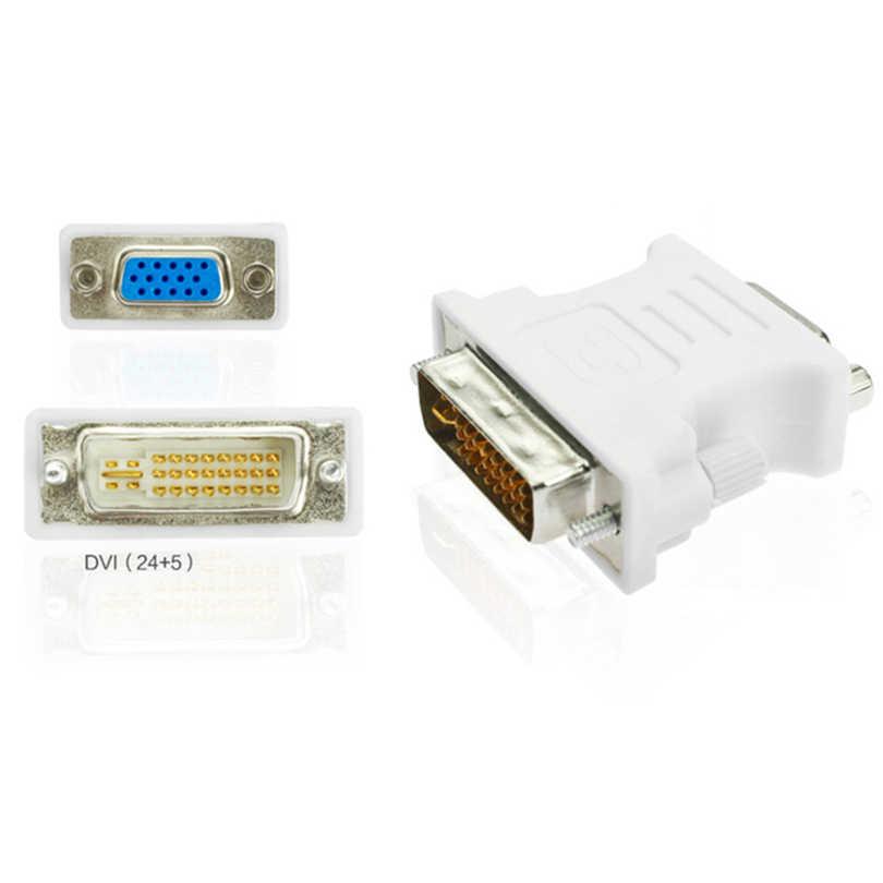 جديد 1080P DVI i 24 + 5 إلى كابل تجهيز مرئي الذكور الإناث محول محول فيديو التبديل موصل ل HDTV PC العارض مراقب عرض