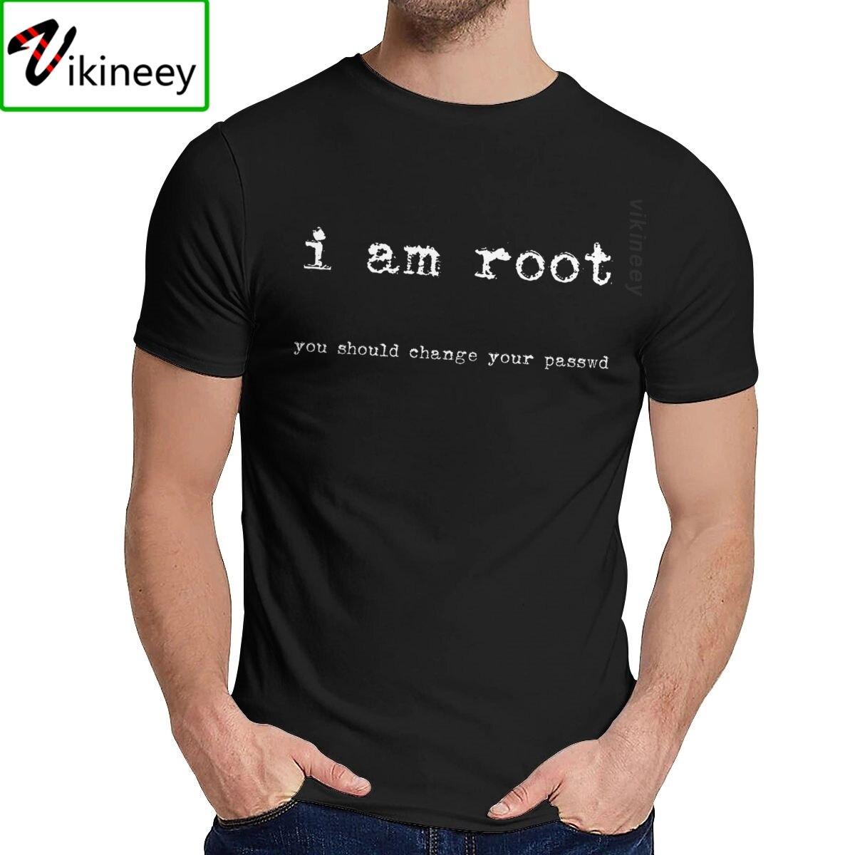 O-Cuello estoy raíz Ubuntu de línea de comando Linux Unix Hacking Camiseta Unisex Popular de algodón Natural La Camiseta gran oferta