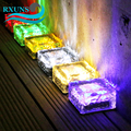 Outdoor Decorations Solar Lawn Garden Lights Decorative Brick Ice Cube LED Light for Pathway Driveway Lanscape Backyard Patio