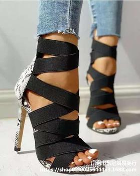 BUSY GIRL ML9067 Sandalias de Mujer 2020, zapatos de tacón alto de...