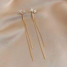 Moda feminina swing brincos estrela corrente de borracha brincos moda feminina longo pingente feminino simples jóias