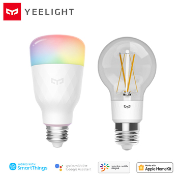 YEELIGHT Smart LED Light Bulb 800lm RGB E27 Wireless Control Voice Control Smart Lamp Vast Color Options Colorful Version Bulbs