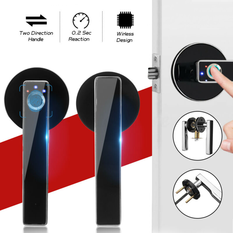 Stainless Steel Fingerprint Lock Smart Biometric Door Lock Home Security Locks Intelligent electronic door lock