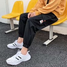 Fashion Mens  Pants New Style HipHop Overalls Male Summer Soft Cool Loose Outdoor Street wear