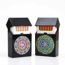 DIY специальный чехол для сигарет с алмазной росписью, шкатулка для украшений, стразы, вышивка кристаллами, органайзер, чехол для хранения, контейнер для карт