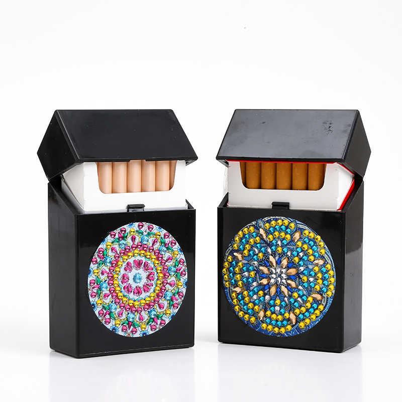 Bricolage spécial diamant peinture étui à cigarettes boîte à bijoux strass broderie cristal perle organisateur mallette de rangement carte conteneur