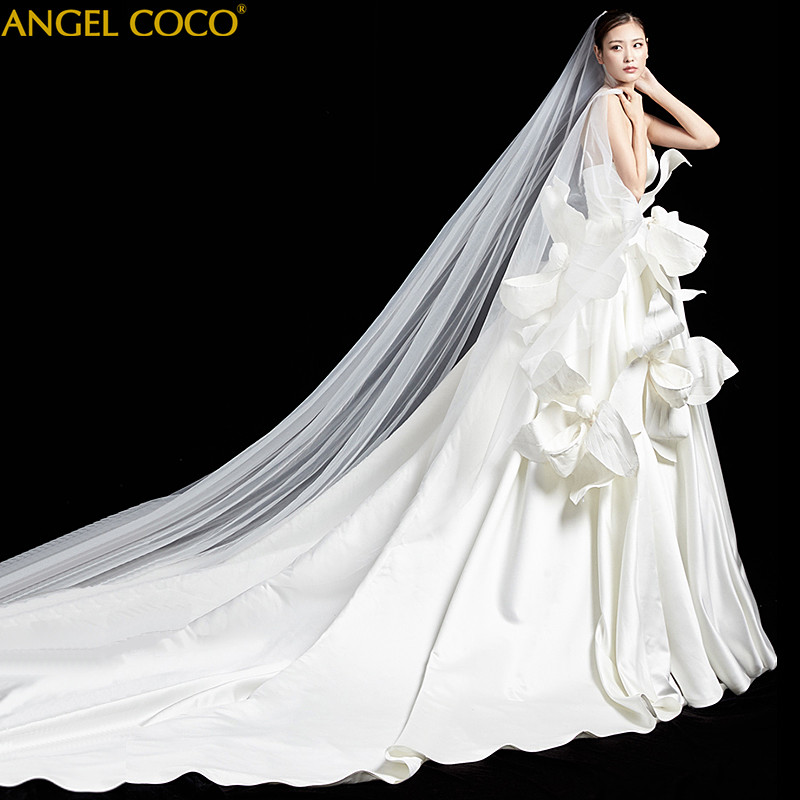 wedding dress 2020 satin dress handmade flowers Luxury boho wedding Gown bridal dress wedding dresses for women bride dress