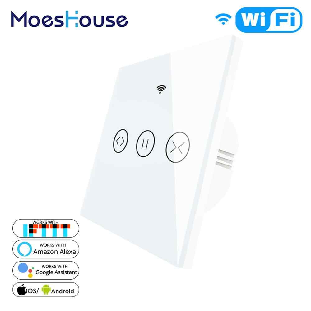 Wifi Smart Tirai Blind Switch untuk Listrik Bermotor Tuya Tirai Roller Shutter Bekerja dengan Alexa Echo Google Home Rumah Pintar
