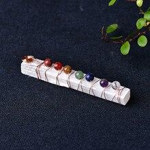 Christmas-Ornaments Selenite-Stick Spiritual-Reiki-Beads Wand Wrapped-Stone Chakra-Healing