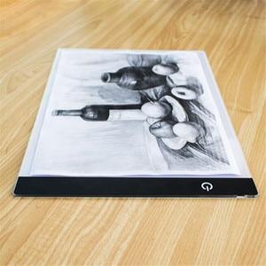 Image 5 - אלקטרוני אמנות גרפי ציור כתיבה שולחן A4 ציור לוח דיגיטלי גרפיקה Pad USB LED אור תיבת התחקות עותק לוח