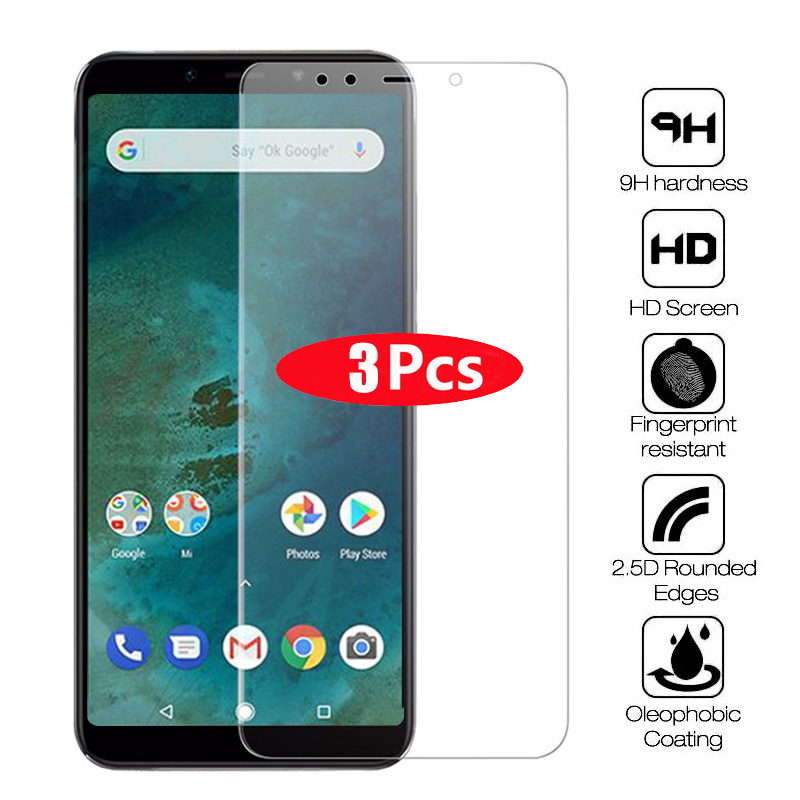 3Pcs Tempered Glass For Xiaomi Mi 8 9 9T Pro SE Lite Screen Protector Xiaomi A1 A2 Lite Mi Max 2 3 Pocophone F1 Protective Glass