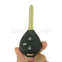 цена на Remotekey Remote car key case shell 3 button TOY43 blade for Toyota Camry Corolla 2009 2010