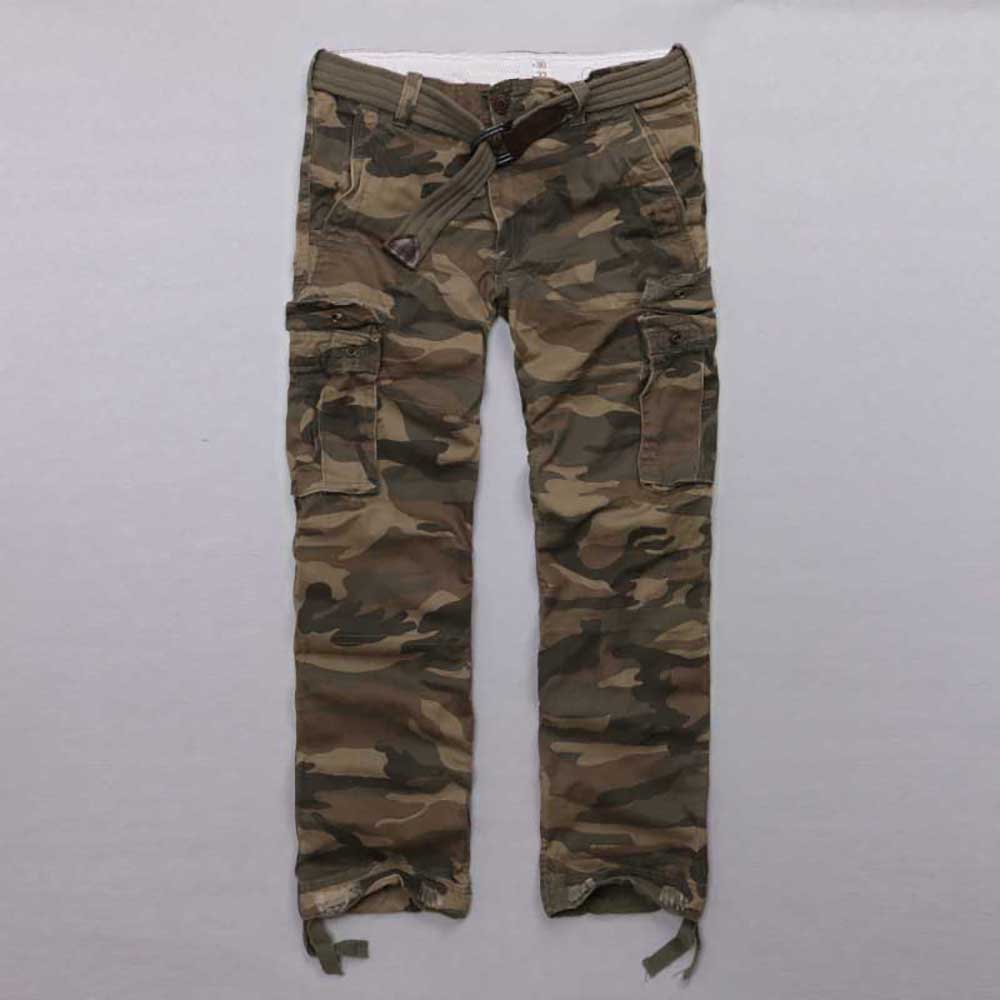 Designer Pants Men's Camo Luxury Brand Trousers Male Classic High Quality Cargo Pants Black Straight Leg Cotton Camouflage Pants