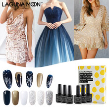 Launamoon 6 unids/set 8ML temático de frozen esmalte de gel de uñas UV LED remojo de laca manicura pedicura salón de belleza uñas(China)