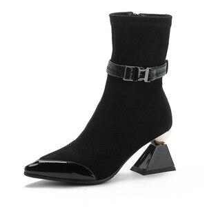 Image 2 - Morazora 2020 Hàng Mới Về Da Thật Chính Hãng Da Giày Nữ Mắt Cá Chân Giày Độc Đáo Giày Cao Gót Giày MÙA THU ĐẦM DỰ TIỆC Giày Người Phụ Nữ