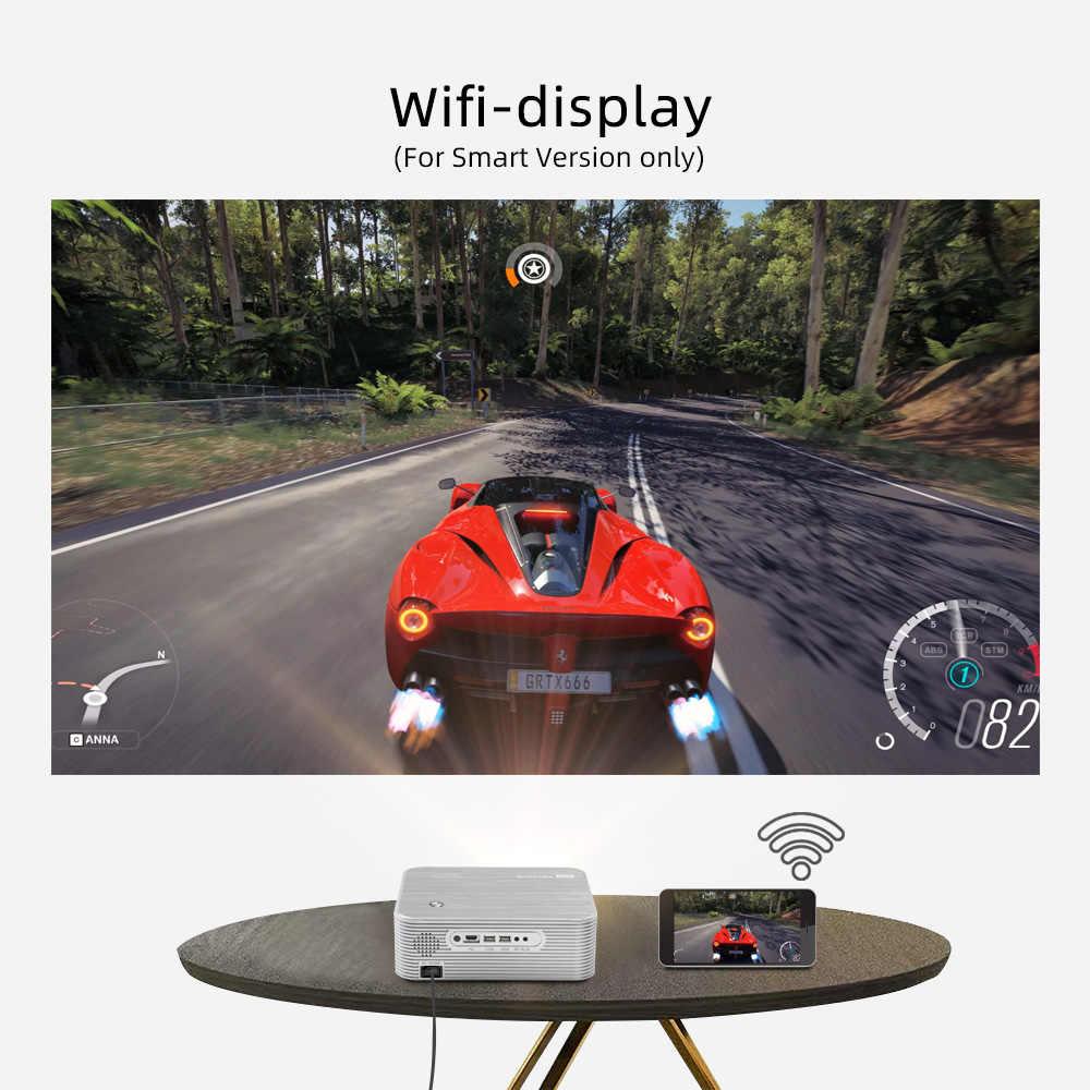 BYINTEK K15 4K 1920x1080P Smart Android Proyector Wifi LED Proyector de vídeo Beamer para 3D 4K de 300 pulgadas de cine en casa más de 1080p