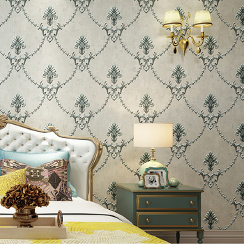 цена на High quality European small flower wall paper luxury non-woven living room bedroom TV background wall American wallpaper home