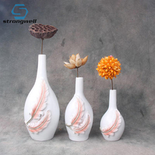 Strongwell Nordic Resin Flower Vase Pattern Green Plants Hydroponic Device Desktop Home Decoration