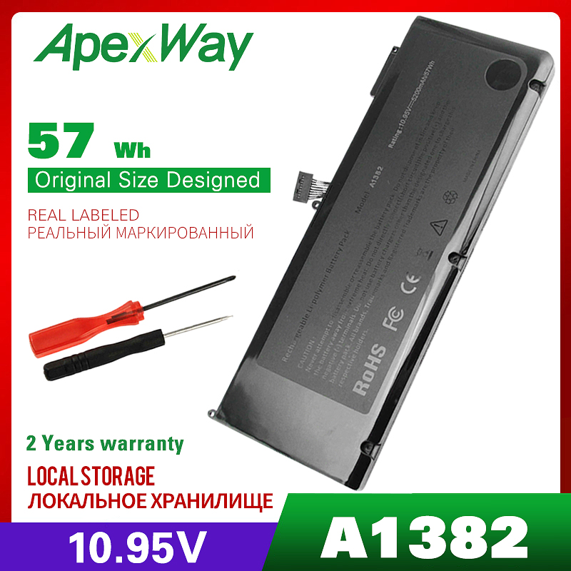 57WH laptop <font><b>batterie</b></font> A1382 für Apple A1286 2009 Version für <font><b>MacBook</b></font> <font><b>Pro</b></font> <font><b>15</b></font>