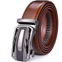 Couro masculino catraca cinto vestido com slide clique fivela automática mais tamanho 65cm a 160cm luxo ceinture