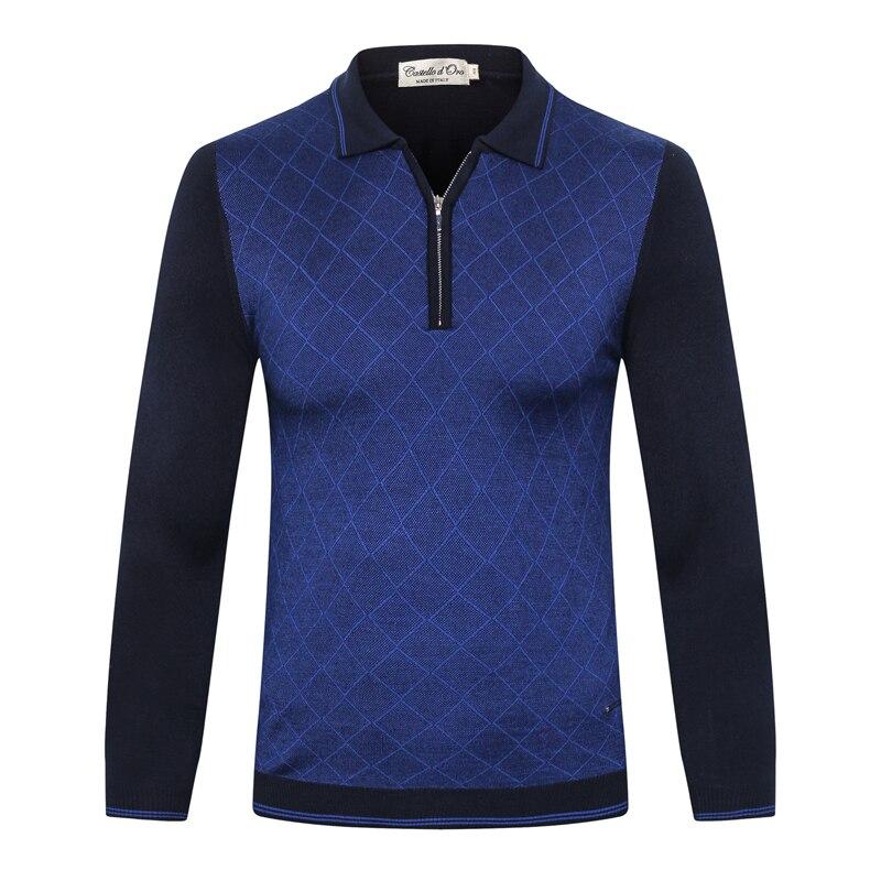 Billionaire Sweater wool men's 2019 new fashion casual zipper warm high quality lattice embroidery big size M-6XL free shipping