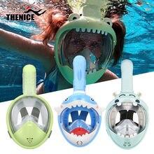 Новинка для мальчиков и девочек мультяшная плавания полное лицо